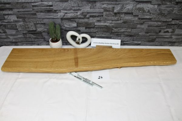 Wandboard Eiche massiv 96 cm Baumkantenbord