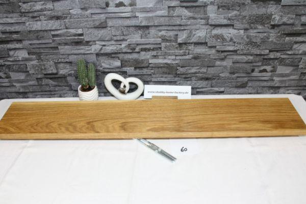 Wandboard Eiche massiv Breite 106 cm / 17 cm Tiefe