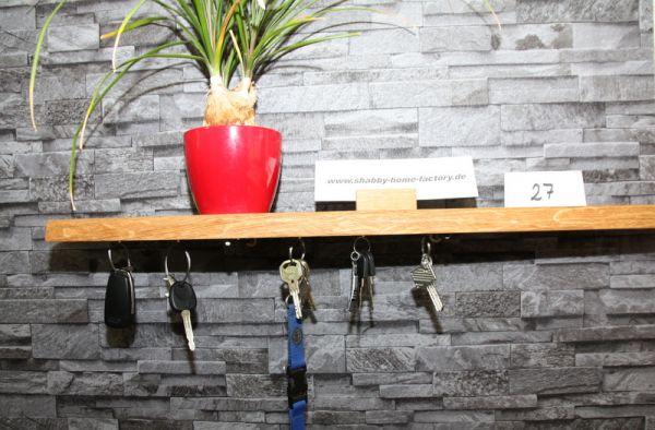 Magnet Schlüsselbrett aus Eichenholz Schlüssel-Wandboard