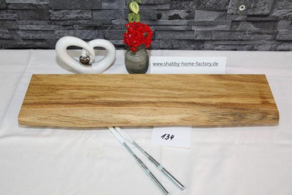 Wandboard Eiche massiv Baumkante 58 cm geölt