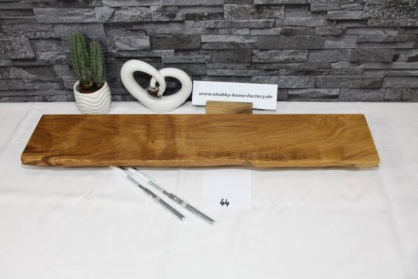 Wandboard Eiche massiv 66 cm Baumkantenbord