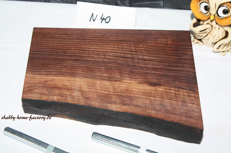 Nu bord wandboard massiv mit baumkante baumkantenbord 40 naturholz m bel m bel wohnen - Wandboard walnuss ...