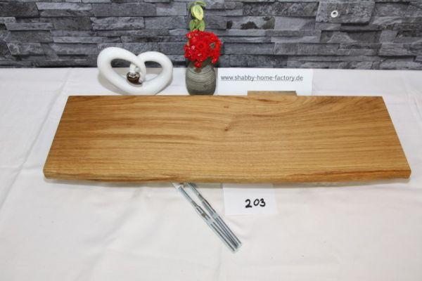 Wandboard 63 cm Eiche massiv Baumkante