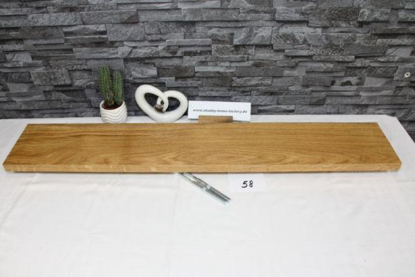 Wandboard Eiche massiv Breite 100 cm / 16 cm Tiefe