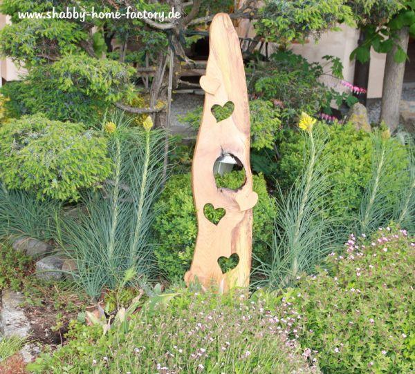 Willkommensschild Haustür Eiche Garten Holz stehend