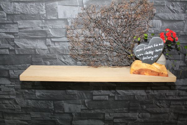 Baord Eiche massiv 80 cm lackiert