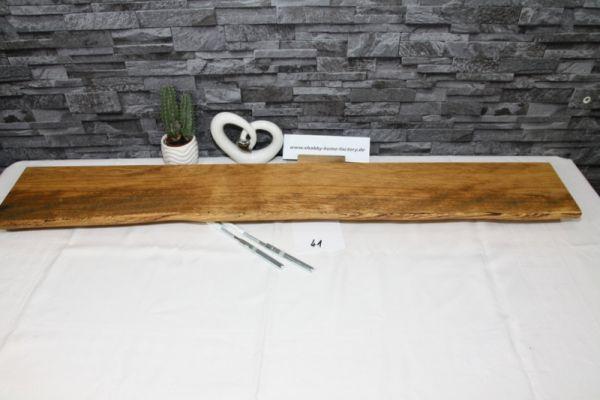 Wandboard Eiche 109 cm Baumkantenbord massiv
