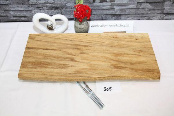 Wandboard 51 cm Eiche massiv Baumkante geölt
