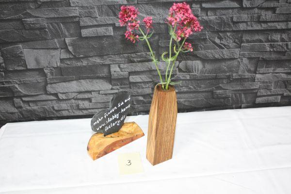 Vase aus Walnußholz Massivholz Holzvase