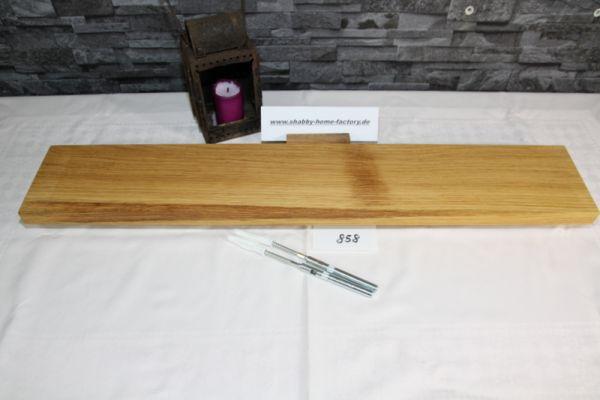 80 cm Board Eiche massiv geölt mit besonderer Maserung