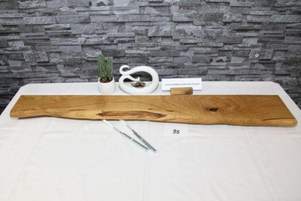 Wandboard Eiche 112 cm Baumkantenbord massiv