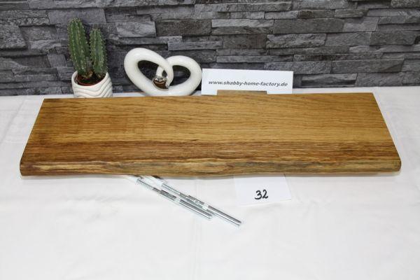 Wandboard Eiche massiv 64 cm Baumkantenbord