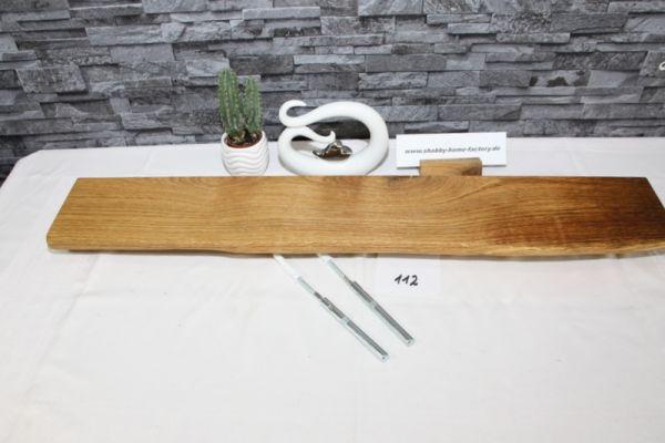 Wandboard Eiche 90 cm Baumkantenbord massiv