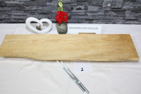 Wandboard 71 cm Ahorn massiv Baumkante