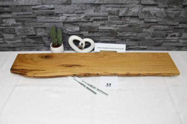 Wandboard Eiche massiv 87 cm Baumkantenbord