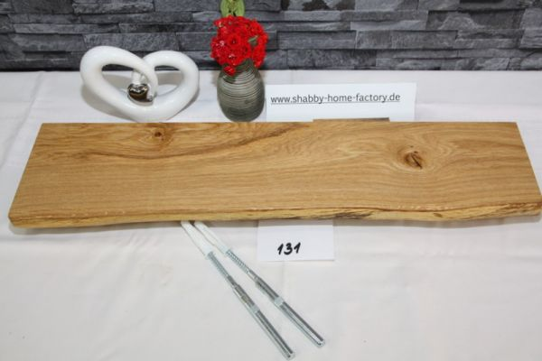 Wandboard Eiche massiv Baumkante 60 cm