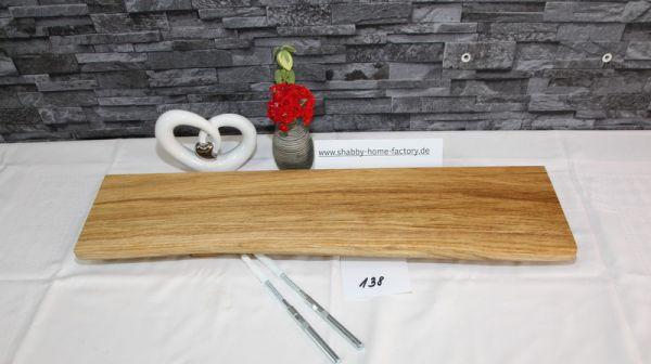 Wandboard Eiche massiv Baumkante 66 cm