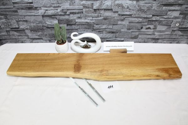 Wandboard Eiche 89 cm Baumkantenbord massiv