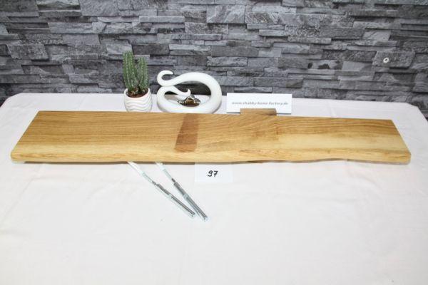 Wandboard Eiche 97 cm Baumkantenbord massiv