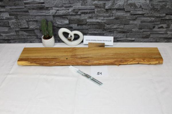 Wandboard Eiche massiv 78 cm Baumkantenbord
