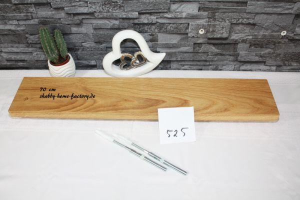 70 cm Board Eiche massiv geölt mit besonderer Maserung