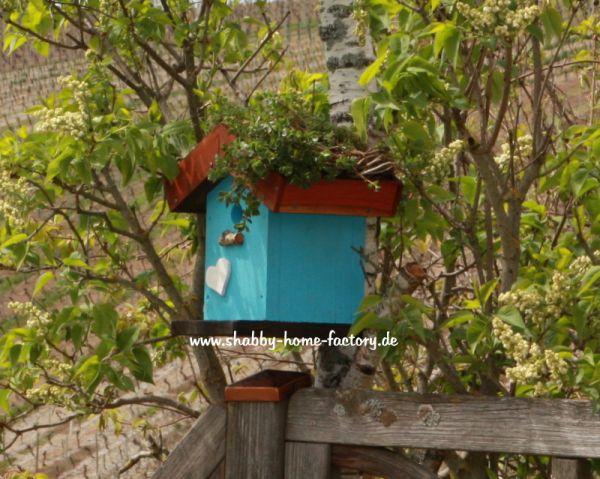 Nistkasten Vogelhaus Birdhouses Nisthilfe Gartendeko Dachbegrünung