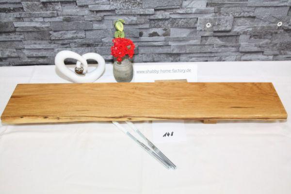 Wandboard Eiche massiv Baumkante 76 cm