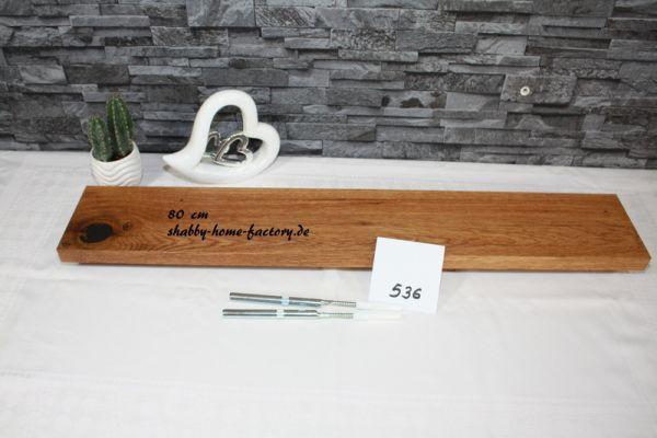80 cm Wandboard Eiche massiv geölt mit besonderer Maserung