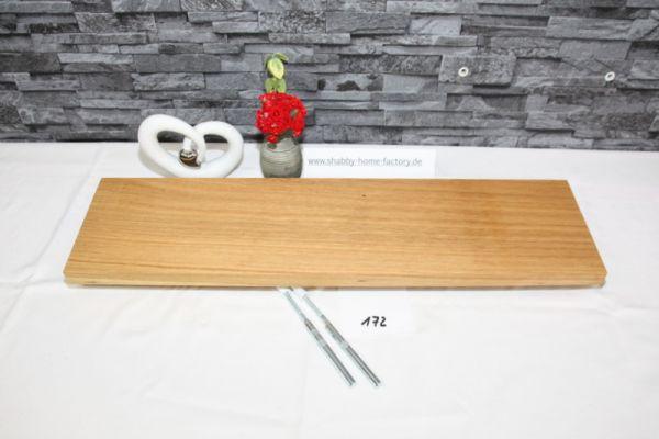 Wandboard Eiche Breite 68 cm Tiefe 17,5 cm massiv geöl