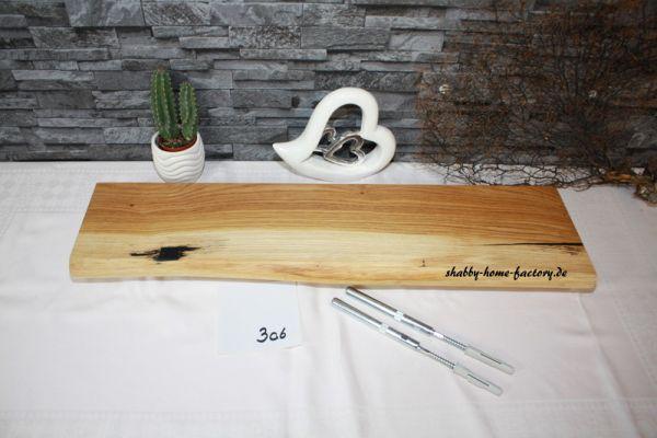 Eiche Wandbord mit Baumkante # 306