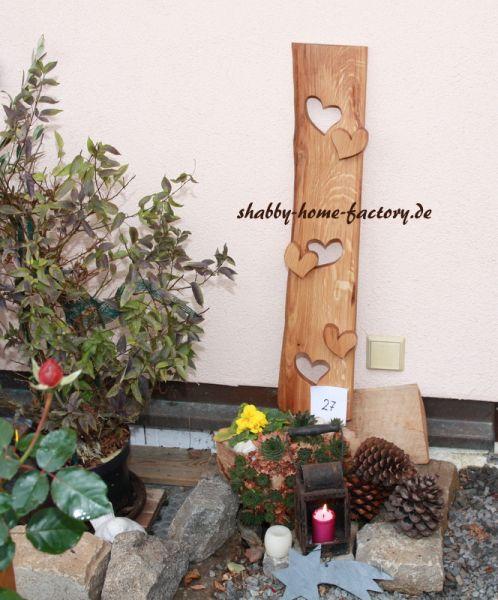 Eingangsschild Holz Deko massiv Eiche geölt
