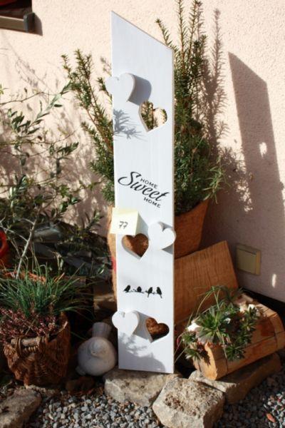 Willkommensschild Holzaufsteller Eingangsschild Gartendeko