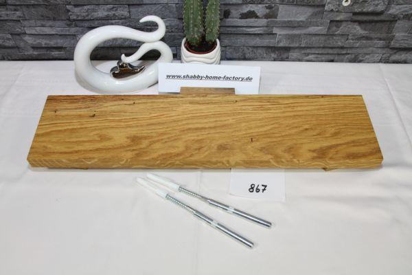 Wandboard Eiche Breite 56 cm / 13,5 cm Tiefe massiv geölt