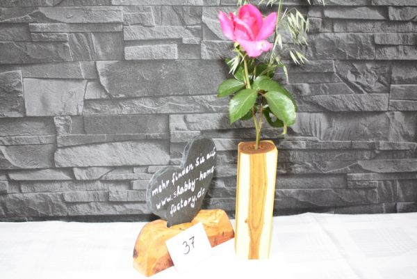 Vase aus Goldregen Massivholz Holzvase #37