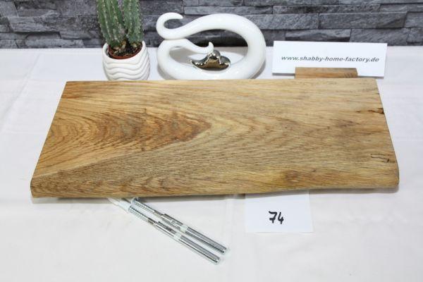 Wandboard Eiche massiv Baumkante 49 cm geölt
