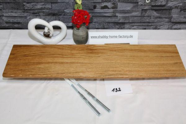 Wandboard Eiche massiv Baumkante 62 cm