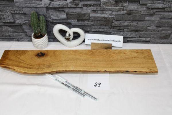 Wandboard Eiche massiv Baumkante 72 cm