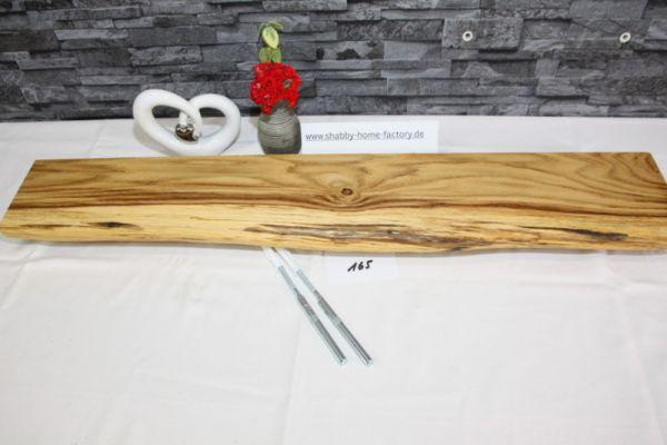 Wandboard 88 cm Eiche massiv Baumkante
