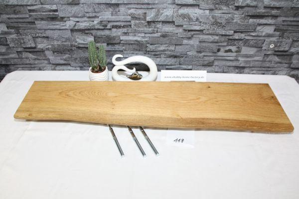 Wandboard Eiche 93 cm Baumkantenbord massiv