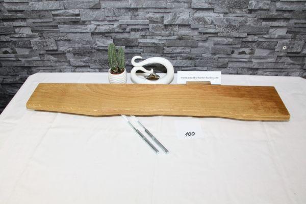 Wandboard Eiche 96 cm Baumkantenbord massiv