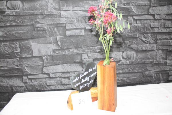 Vase aus Speierling massiv #20