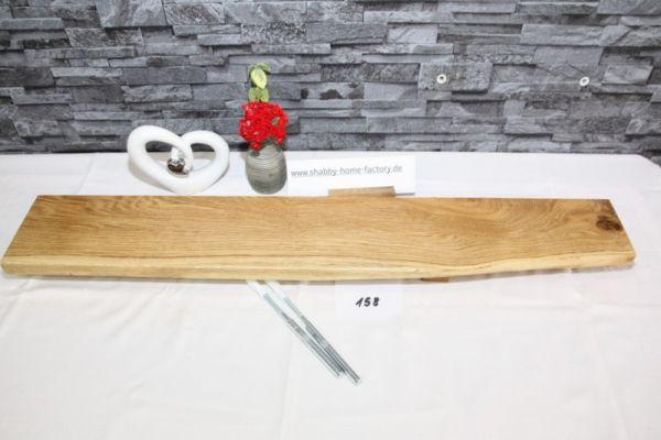 Wandboard 85 cm Eiche massiv Baumkante