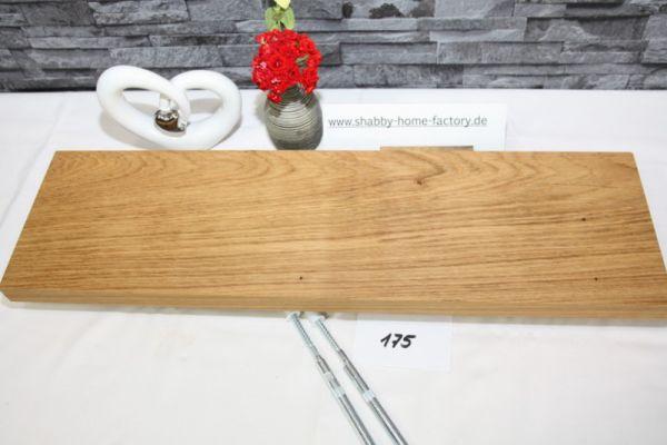 Wandboard Eiche Breite 61 cm Tiefe 17,5 cm massiv geölt