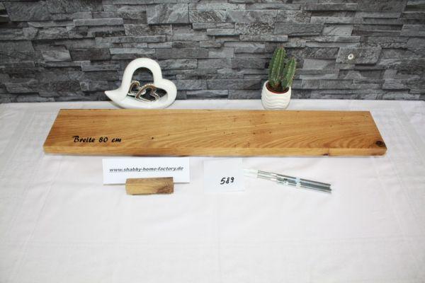 Eiche Wandboard mit besonderer Maserung 80 cm massiv geölt