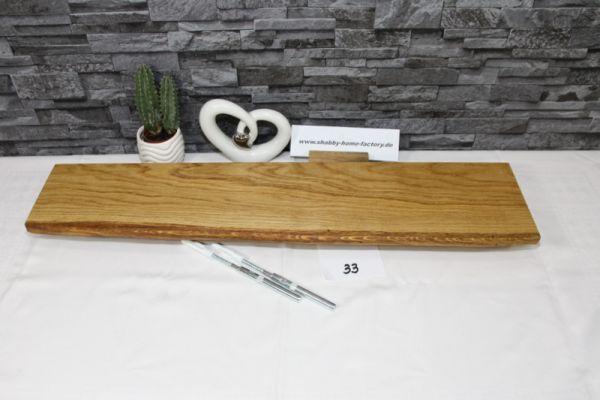 Wandboard Eiche massiv 74 cm Baumkantenbord