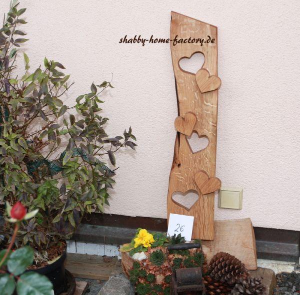 Willkommen Schild Holz Deko Eingangsschild massiv geölt Eiche