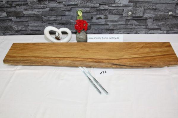 Wandboard 87 cm Eiche massiv Baumkante