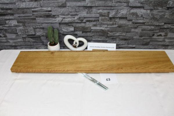 Wandboard Eiche Breite 93 cm / 16 cm Tiefe massiv