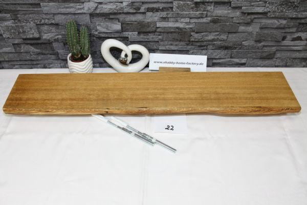 Wandboard Eiche massiv Baumkante 81 cm