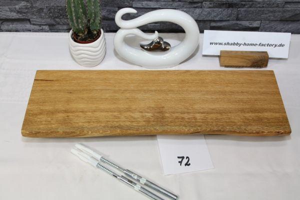 Wandboard Eiche massiv Baumkante 47 cm geölt